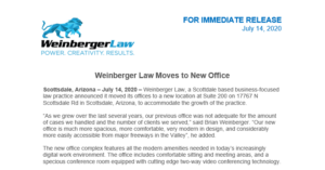 Weinberger Law Moves to New Office